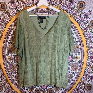 Sage green lace top